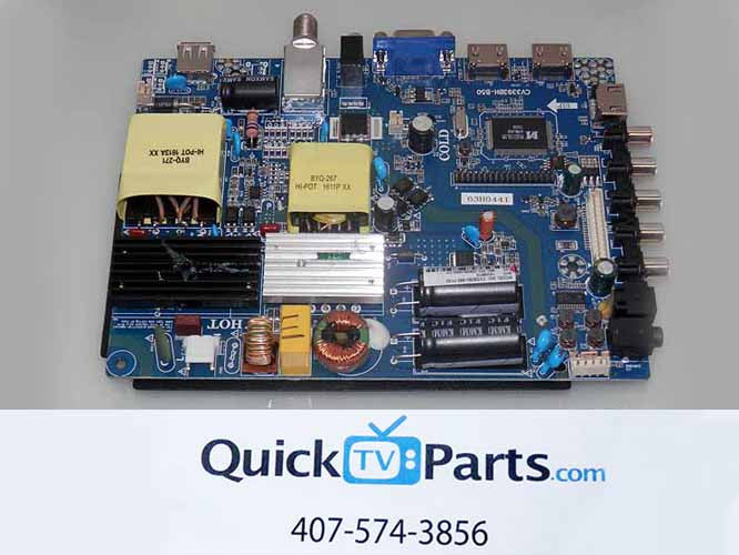 SANSUI SLED5515W MAIN BOARD / POWER SUPPLY CV3393BH-B50-11-X3
