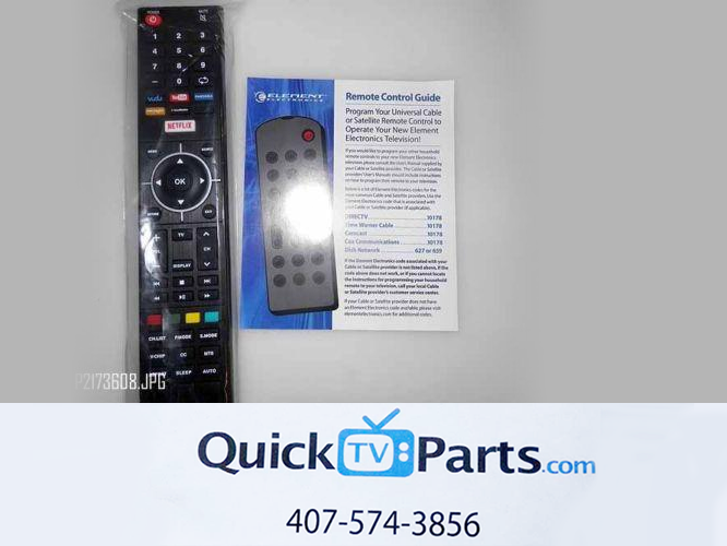 Element Electronics Universal Remote Netflix Youtube Pandora Vudu w/ Batteries