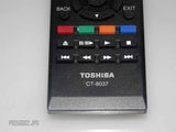 TOSHIBA SMART TV REMOTE CONTROL CT-8037 FITS MULTIPLE TV MODELS! USED