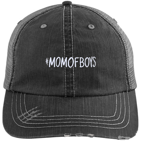 Hats - #MOMOFBOYS Distressed Trucker Cap