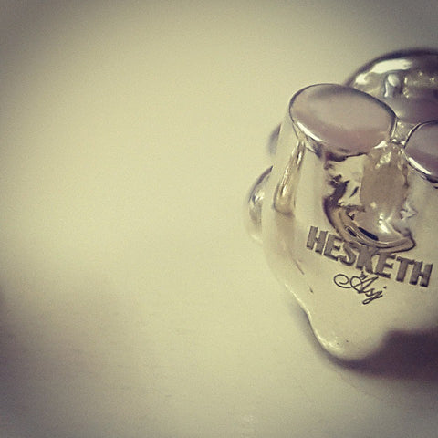 Hesketh Bear Stirling Silver Cufflinks by Alyssa Smith Jewellery