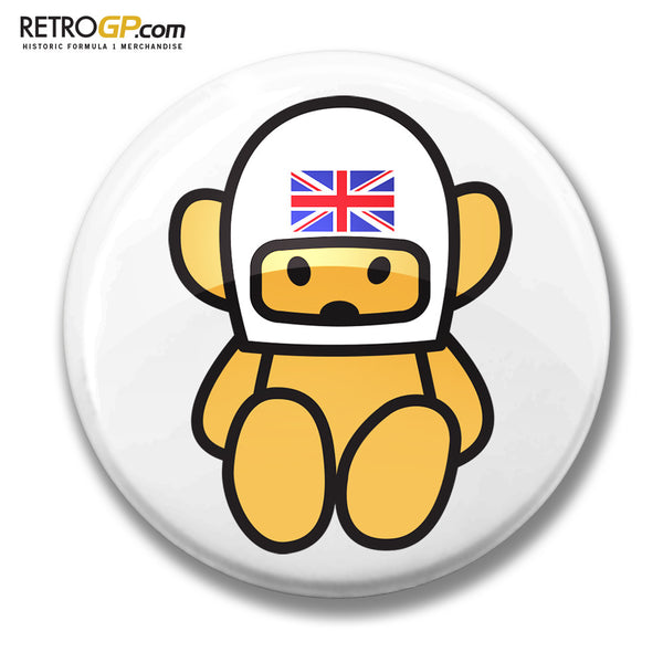 OFFICIAL Hesketh Bear Pin Badge and Sticker