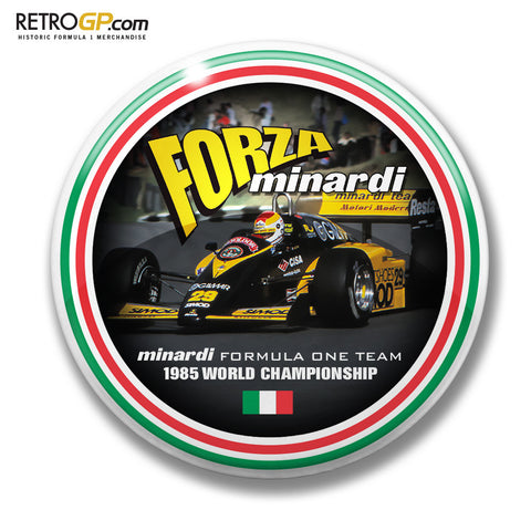Minardi Forza Pin Badge and Sticker