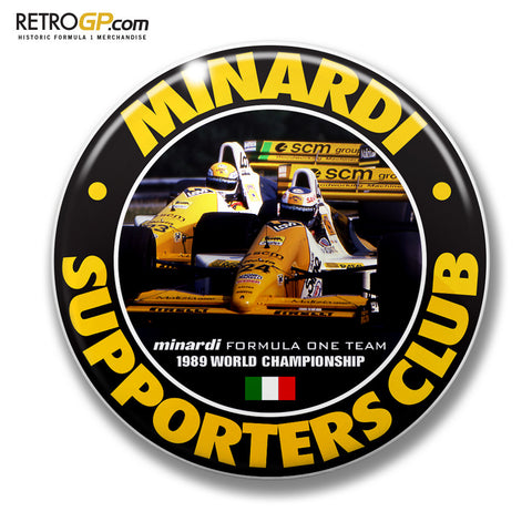 Minardi Club Pin Badge and Sticker