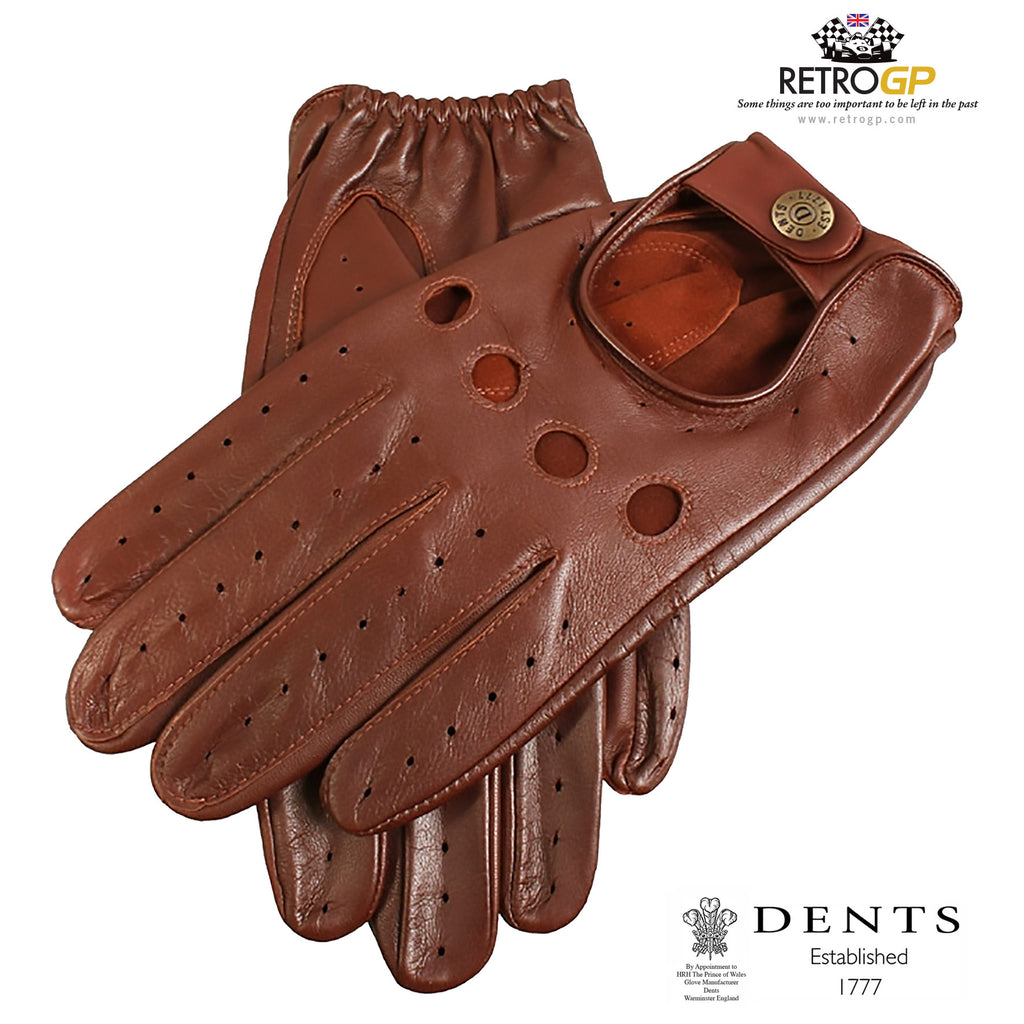English leather driving gloves - Dents Classic Driving Gloves English Tan