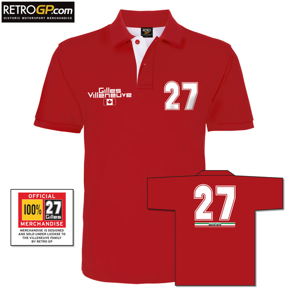 OFFICIAL Gilles Villeneuve Polo Shirt