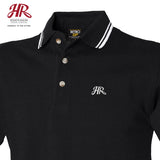 OFFICIAL Hesketh Racing Casual Classics - Double Tipped Polo - Black