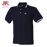 OFFICIAL Hesketh Racing Casual Classics - Double Tipped Polo - Navy