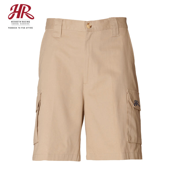 OFFICIAL Hesketh Racing Casual Classics - Cargo Shorts - Stone
