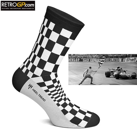 Chequered Flag Grand Prix Socks by HeelTread