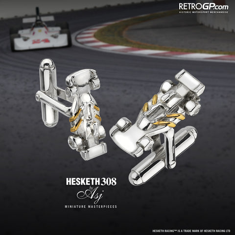 Hesketh Racing 308 Cufflinks by RetroGP.com and Alyssa Smith Jewellery