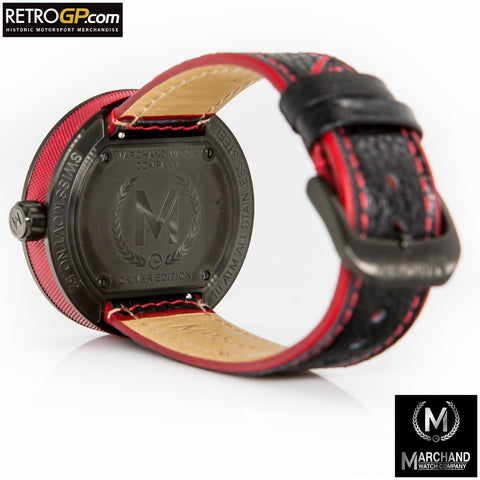 Marchand Debonair Watch Red and Black