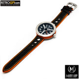 Marchand Debonair Watch Black and Orange