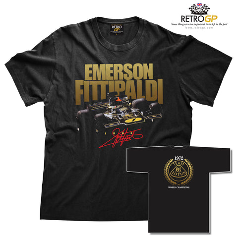 Emerson Fittipaldi Lotus 72 T Shirt ONLY MEDIUM LEFT
