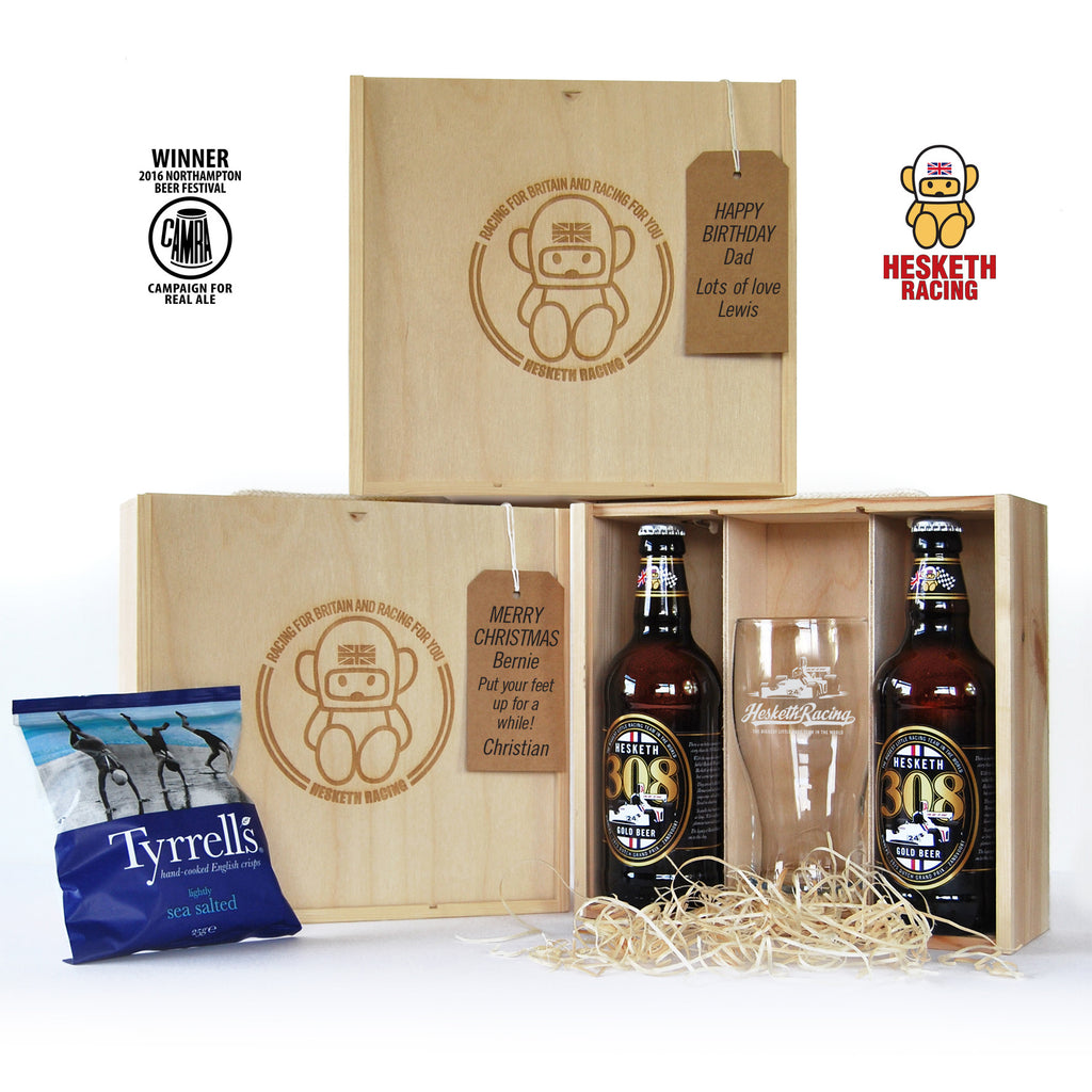 OFFICIAL Hesketh 308 Gold Beer Gift Box - Can be personalised – RetroGP