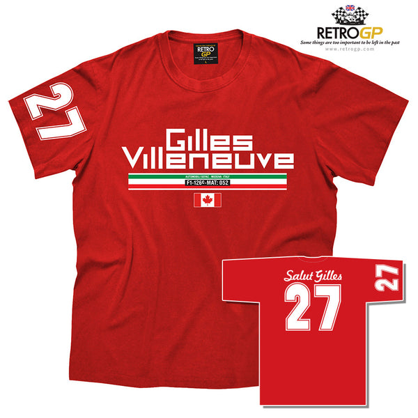 OFFICIAL Gilles Villeneuve 27 T Shirt