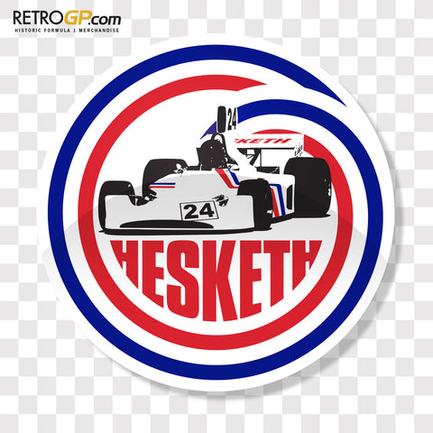 OFFICIAL Hesketh Racing 308 Pin Badge and Sticker