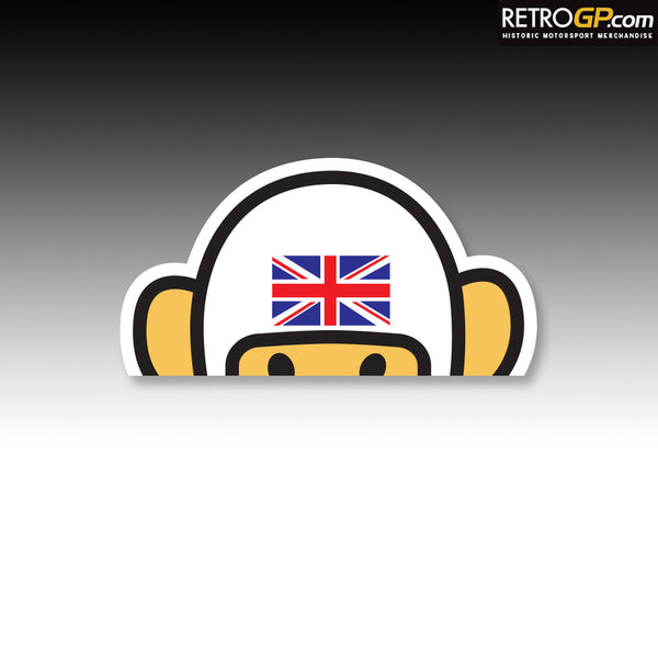 Official Hesketh Racing Patrol Bear Sticker Retrogp