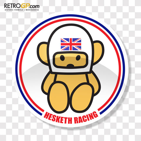 OFFICIAL Hesketh Racing Pin Badge and Sticker