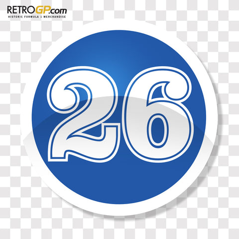 Jacques Laffite 26 Badge and Sticker