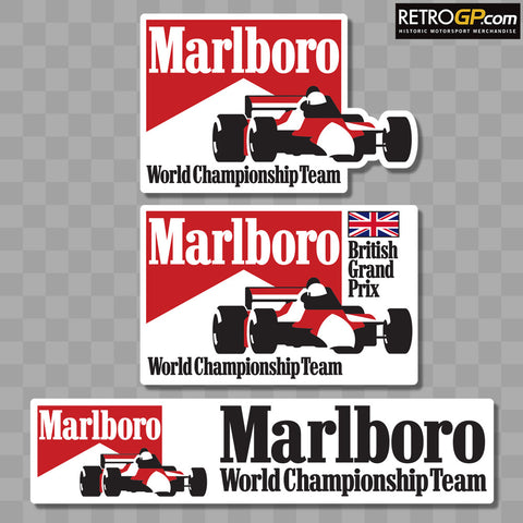Marlboro F1 World Championship Team Stickers