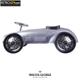Walter George Vintage Steel Ride Along Racer - Silver