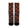 100 Basket ball on black Socks - Shweeet