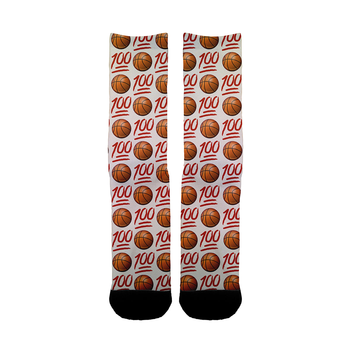 100 Basket ball on White Socks - Shweeet