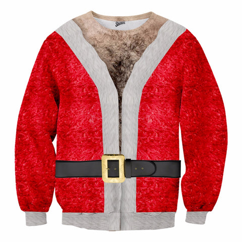 Hairy Santa Christmas Sweater - Shweeet