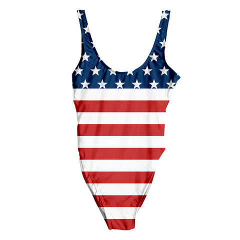 American Flag One piece Swimming Suit - Shweeet