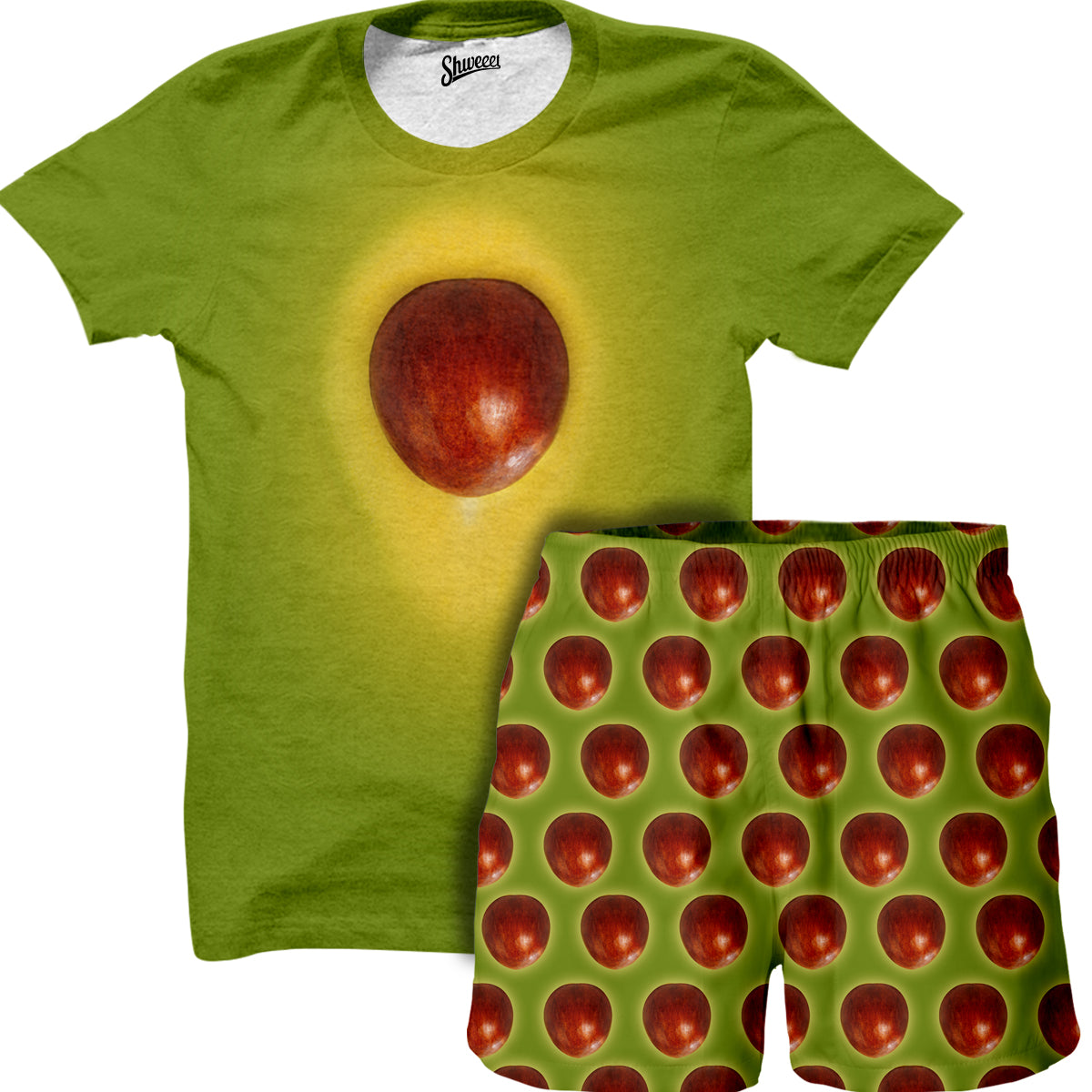 Avocado T-Shirt and Shorts Combo - Shweeet