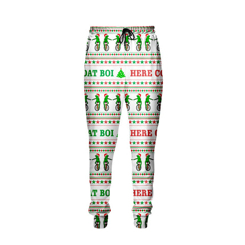 Here Come Dat Boi Frog Christmas Jogger Pants - Shweeet