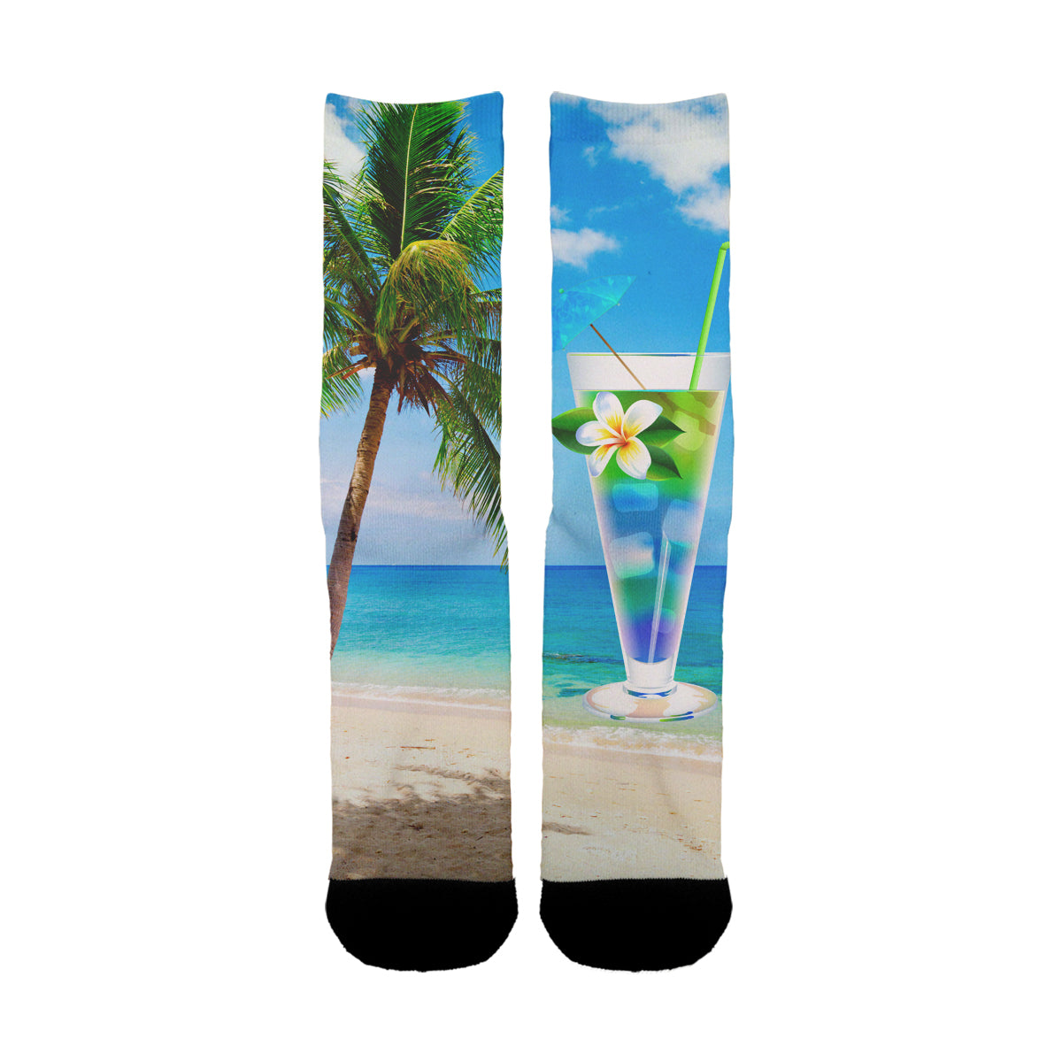Beach Design Drink Socks