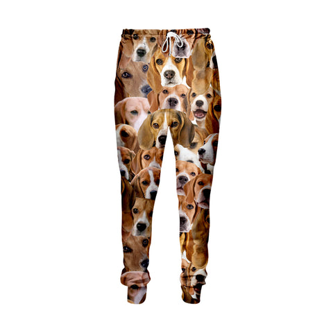 Beagles Face Jogger Pants