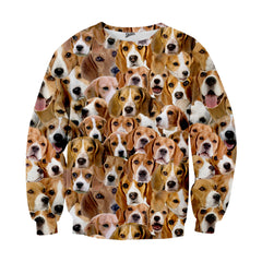 Beagles Face Sweater - Shweeet