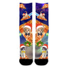 Image of Christmas Cat Pizza Socks - Shweeet