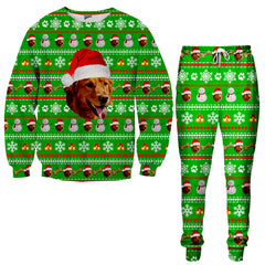 Custom Pet Christmas Tracksuit