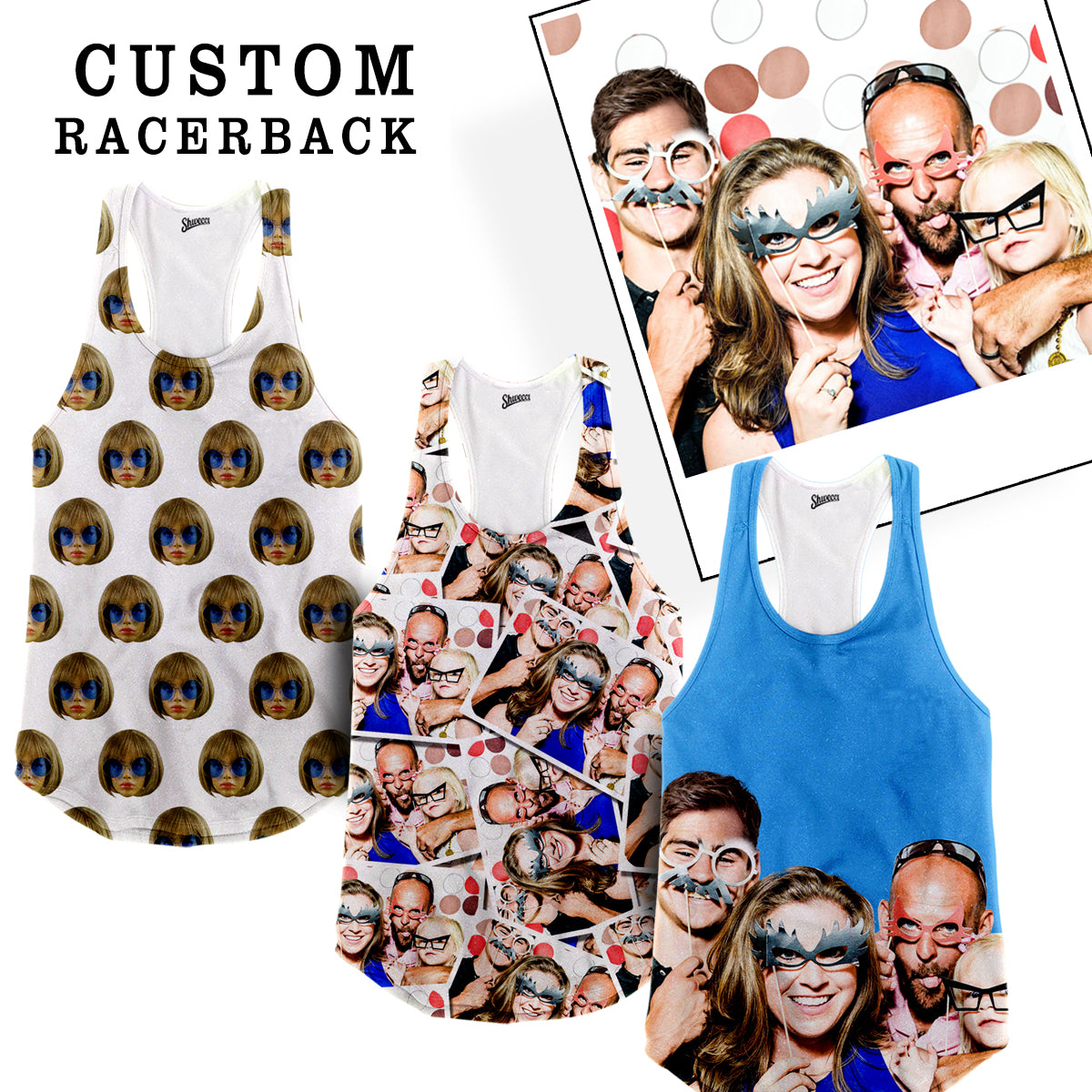Custom Face Racerback Tank Top