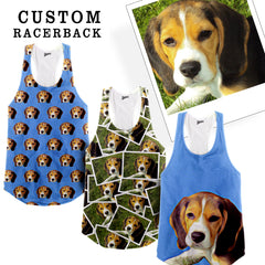 Custom Pet Racerback Tank Top - Shweeet