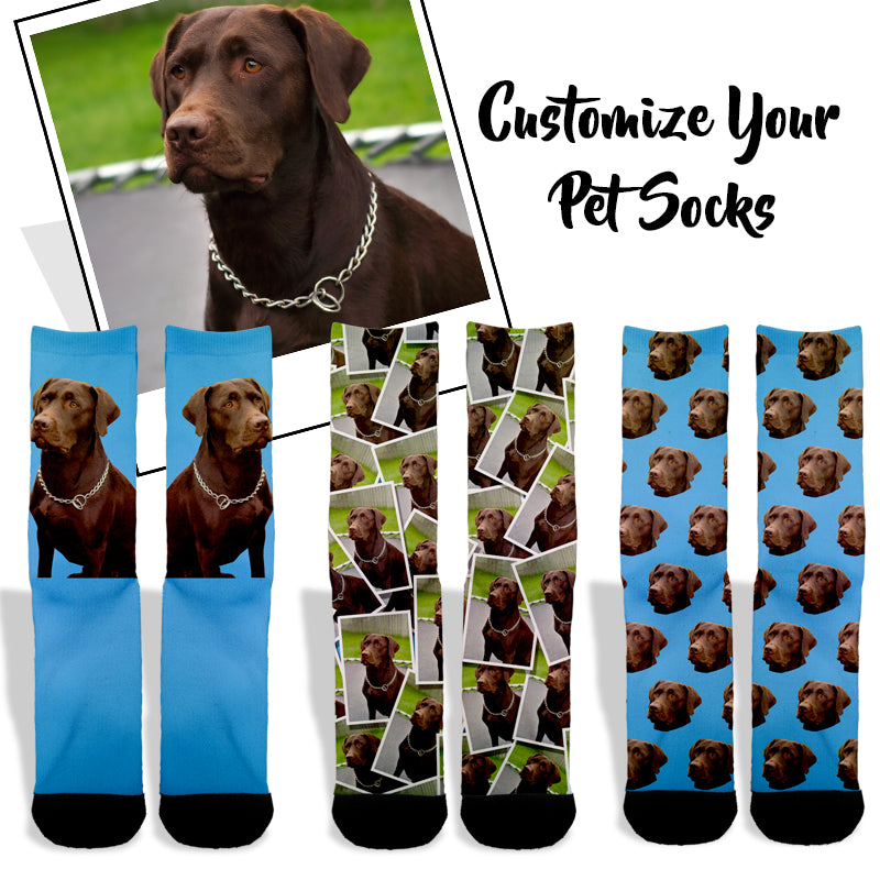 90631dabc2d2 Custom Pet Socks | Dog & Cat Socks | 40% OFF Limited Time | $17.85 - Shweeet
