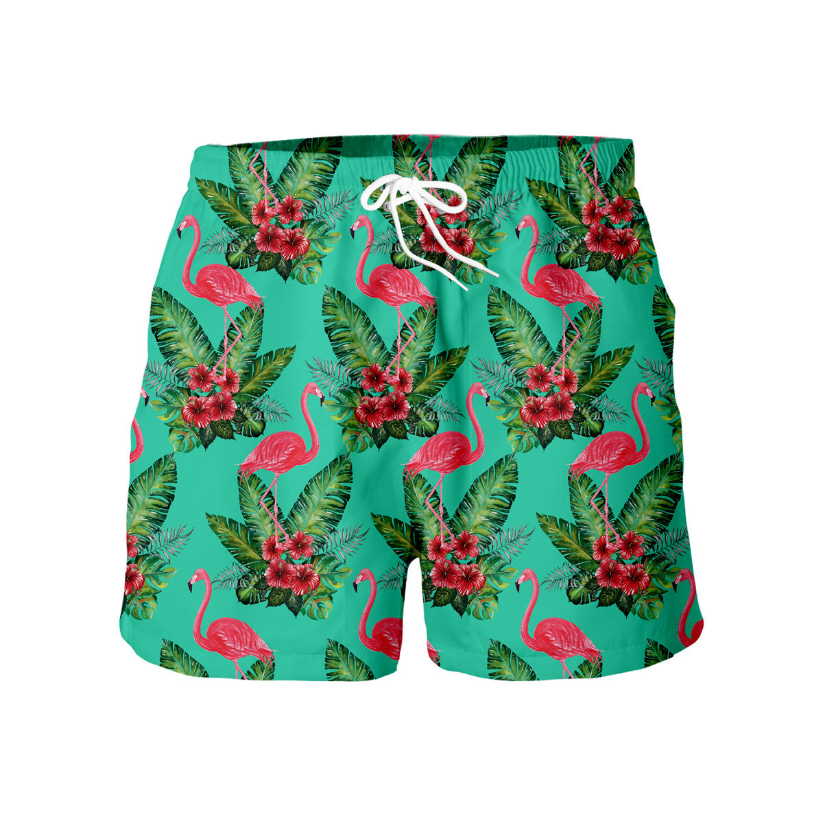 Flamingos Floral Shorts