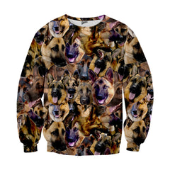 German Shepherd Faces Sweater
