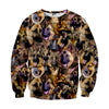 Image of German Shepherd Faces Sweater