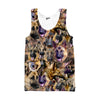 German Shepherd Faces Tank top