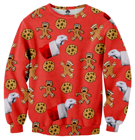 Gingerbread Cookies Ugly Christmas Sweater - Shweeet
