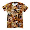 Golden Retriever Faces Shirt - Shweeet