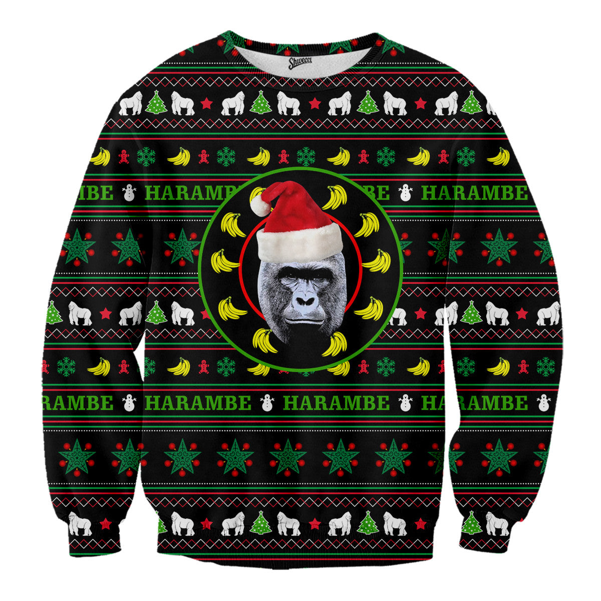 Harambe Christmas Sweater - Shweeet