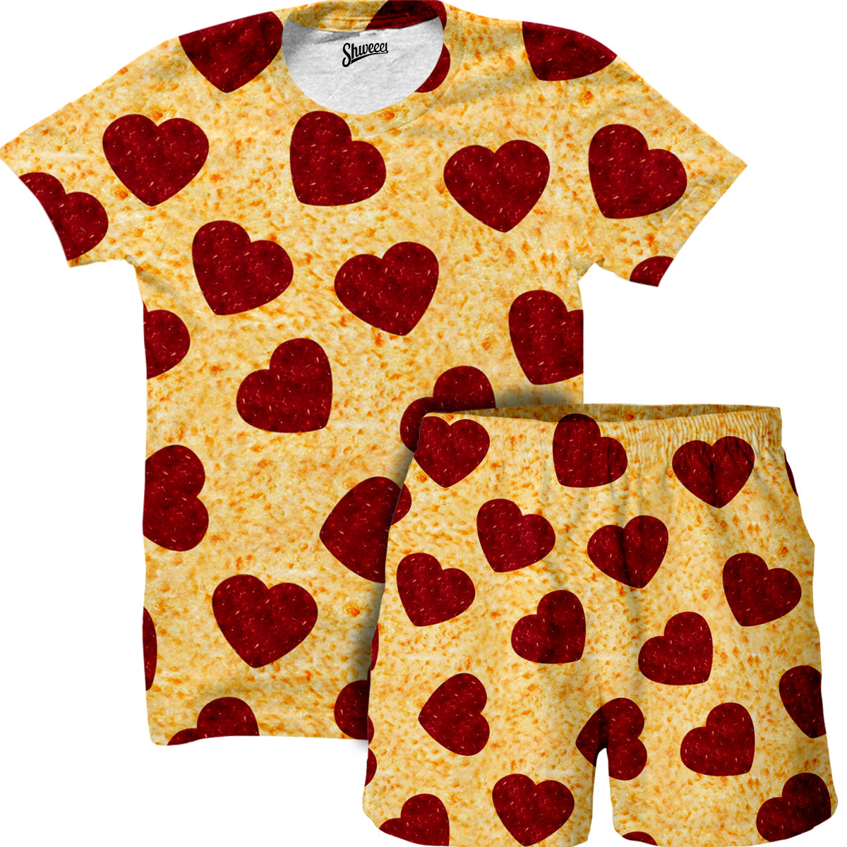 Heart Toppings Shirt and Shorts Combo