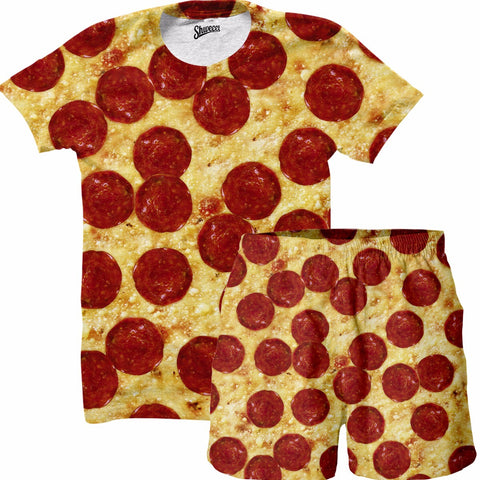 Pizza Shirt and Shorts Combo