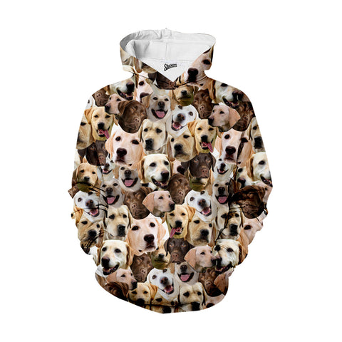 Labrador Retriever Faces Hoodie